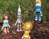 Wizard of Oz Wood Christmas Ornaments - Kurt S Adler - 1983