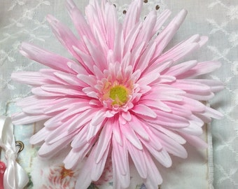 Large pink fabric flower