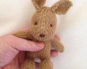 Ready to ship .. hand knit mini brown bunny rabbit photo prop