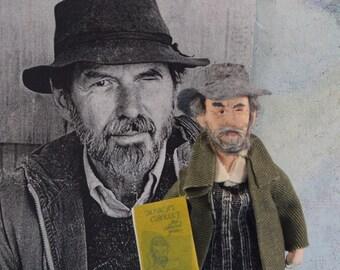 Robert Creeley Historical Doll Miniature Poet Writer Literary Art Miniature