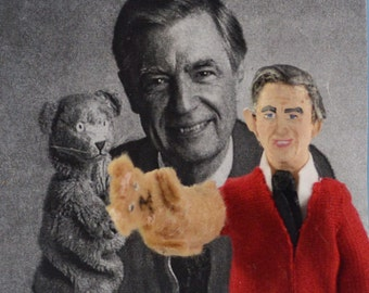 Fred Rogers-  Doll Art-  Miniature Size-  Children's Television- Celebrity Characters