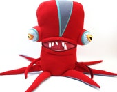SUMMER SALE!!! Wendel Giant Squidious Cotton Monster Plush Soft Sculpture