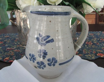 VINTAGE - From Germany - Salt Glazed Pottery Milk Jug