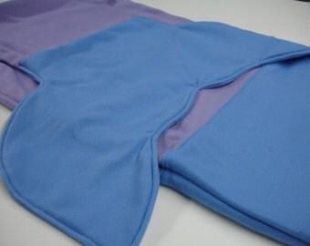 Mermaid Tail Lavender and Blue Fleece Blanket CHILD Size 20 x 45 Ready to Ship