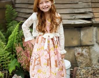 SAMPLE SALE -  Juliet Dress in La Vie en Rose - Size 12 months...  Classic beauty!