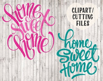 home sweet home svg cutting files, svg files sayings, instant download svg design for silhouette - cricut, home sweet home sign stencil