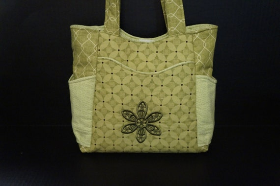 Pretty Embroidered Floral Bag