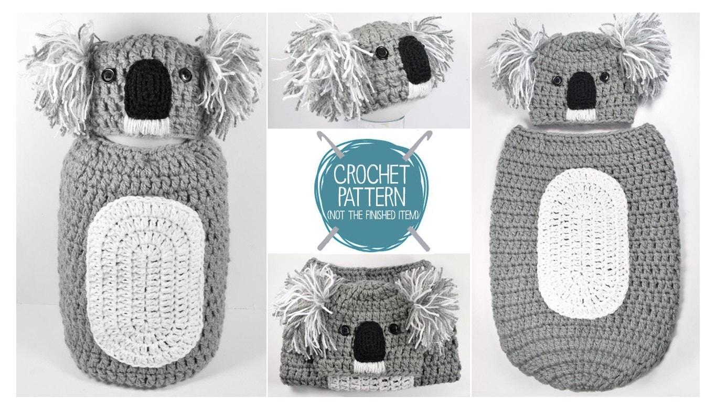Crochet pattern koala newborn hat cocoon uk
