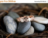 40% Off Vermeil Sale Single Rose Gold Vermeil Pebble ring | Stacking Ring | Rose GoldVermeil Ring
