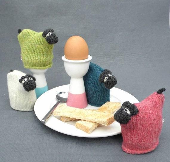 Sheep Egg Cosy Knitting Pattern : Knitted Sheep Egg Cosy Sheep Gift Egg Cosy Egg Cozy