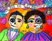 Dia de Los Muertos Couple...