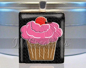 60% OFF CLEARANCE Scrabble tile pendant - Sweet Cupcake (FD130)