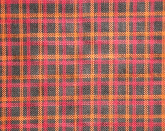 Homespun Material | Plaid Material | Cotton Material | Home Decor Material | Quilt Material | Craft Material | Doll Making Fabric | 1 Yard