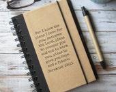 Graduation Gift Journal Notebook Jeremiah Bible Verse Zany