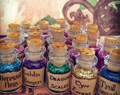 Magic Dust x 10 combo - choose your own wording, pixie, mermaid magic, dragon scales, unicorn magic, party favours