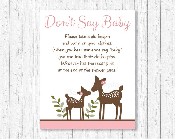 Deer Dont Say Baby Deer Baby Shower Woodland Baby Shower