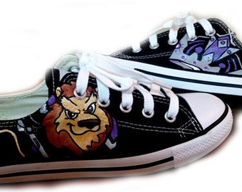 Converse, Hockey, LA Kings, Go Kings Go, Custom Painted, Request Your Team, Shoes Included
