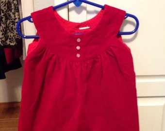 Vintage red velvet toddler dress