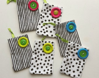 Gift card bags - set of 6