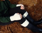 Crocheted Fingerless Gloves and Boot Cuffs, Women's Fingerless Gloves and Boot Cuffs, Click for more colors, Ready to Ship