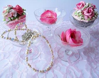 Vintage Crystal Champagne Sherbets Set of Five - Elegant