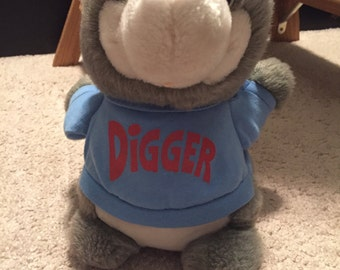 Vintage Hasbro Pre-School Shirt Tails Digger Plush