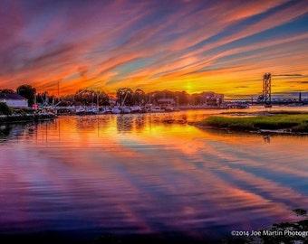 Canvas, photo, print, Sunset, mt chocorua,Nature,Landscape, Sky Scape, Canvas Print, Wall hanging, art,ship, ,reflection,boat,