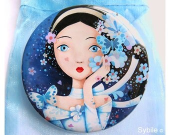 Pocket Mirror Nuit Bleu