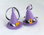 Halloween Felt Hanging Ornament Fancy Purple Witch Hat Halloween Decoration