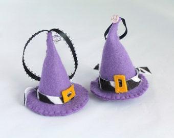 Halloween Felt Hanging Ornament Fancy Purple Witch Hat Halloween Felt Decoration