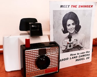 Vintage Camera Poloroid Land Camera The Swinger 1960's