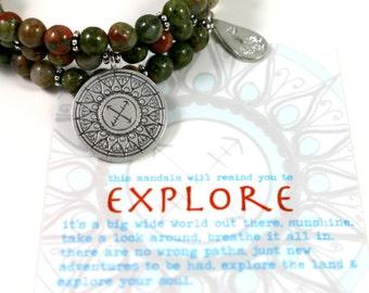 EXPLORE Jasper Healing Gemstone Mandala Bracelet