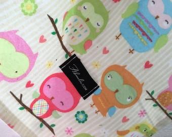 Baby Blanket Swaddler Owl & Co Cream: Receiving Blanket, Swaddling Blanket, Flannel Blanket