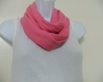 T shirt Two-in-One Infinity Cowl Scarf/Pink and Green AKA Sorority Scarf Set of 2 Choose Your Colors