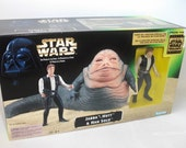 Vintage Star Wars Jabba the Hutt and Han Solo Special Edition 1996 MIB