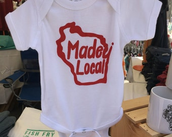 Winsonsin state Made Local infant bodysuit