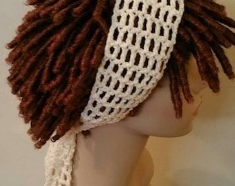 Cotton Off White Dread Headband
