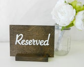 Handpainted Wooden Sign + Reserved Sign (4 x 6) Set of 30