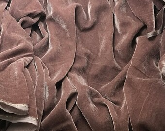 MAUVE Silk Velvet Fabric fat 1/4