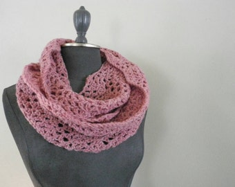 sale lace infinity wrap scarf pink wool blend