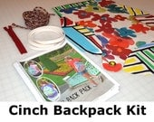 Cinch Backpack Kit including Printed Pattern All inclusive DIY kit Just sew