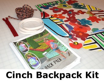 Cinch Backpack Kit including Pattern All inclusive DIY kit Just sew
