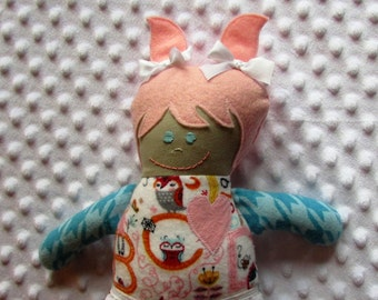 Lily Small Handmade Fabric Baby Doll