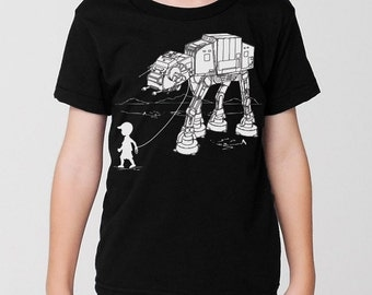 My Star Wars AT-AT Pet kids graphic tee, pre school shirt, kindergarten, star wars t shirt, toddler, youth, funny, kids gift, black & white