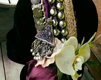 Nightling Headdress - Art Deco/Nouveau Fantasy Faerie Tribal Fusion