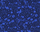 Sarah Jane , Michael Miller Sommer Pre-Sale, Garden Shadow , Blue - 1/2 Yard-Free Shipping in the USA with orders over 50 dollars