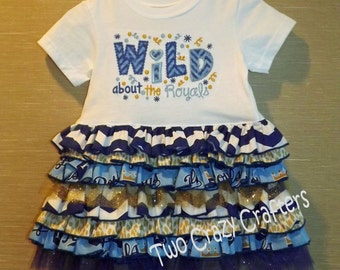 Wild About The Royals Ruffle T-Shirt Dress, MLB, Team Spirit, Kansas City