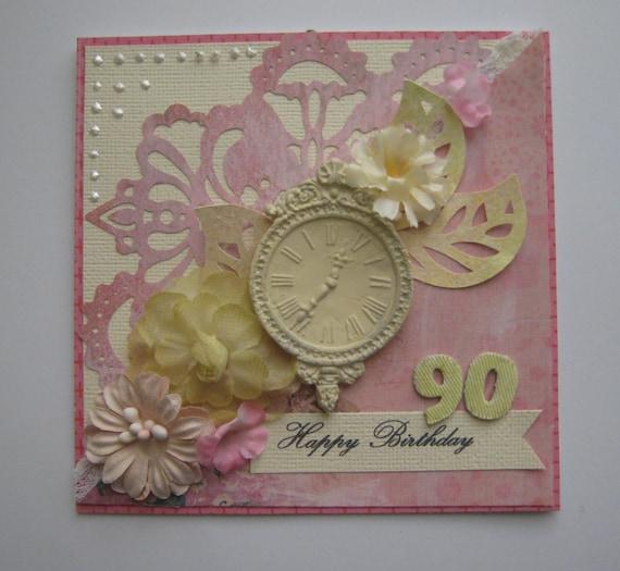 Unique Handmade 90th Birthday Card