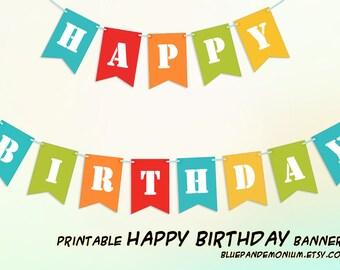 PDF Happy Birthday Sign - Printable