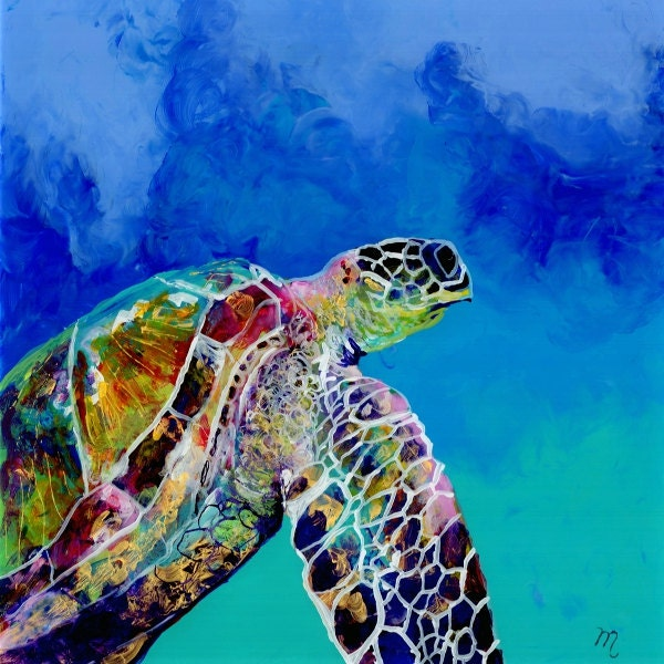 Turtle Acrylic Paintings X